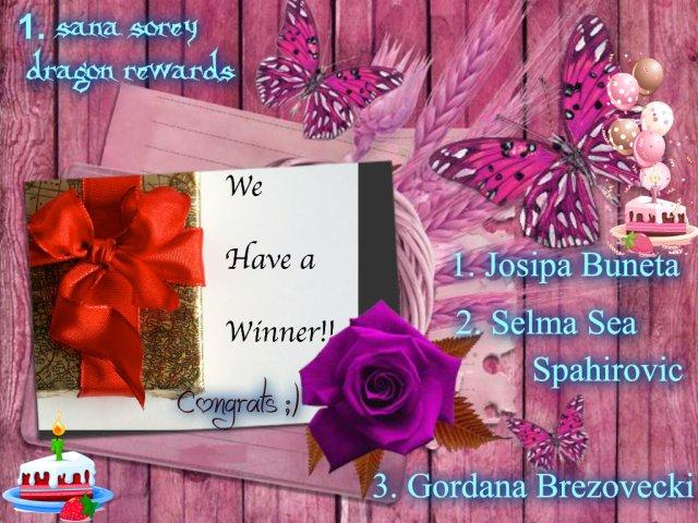 winner of 1 sana sorey dragon rewards